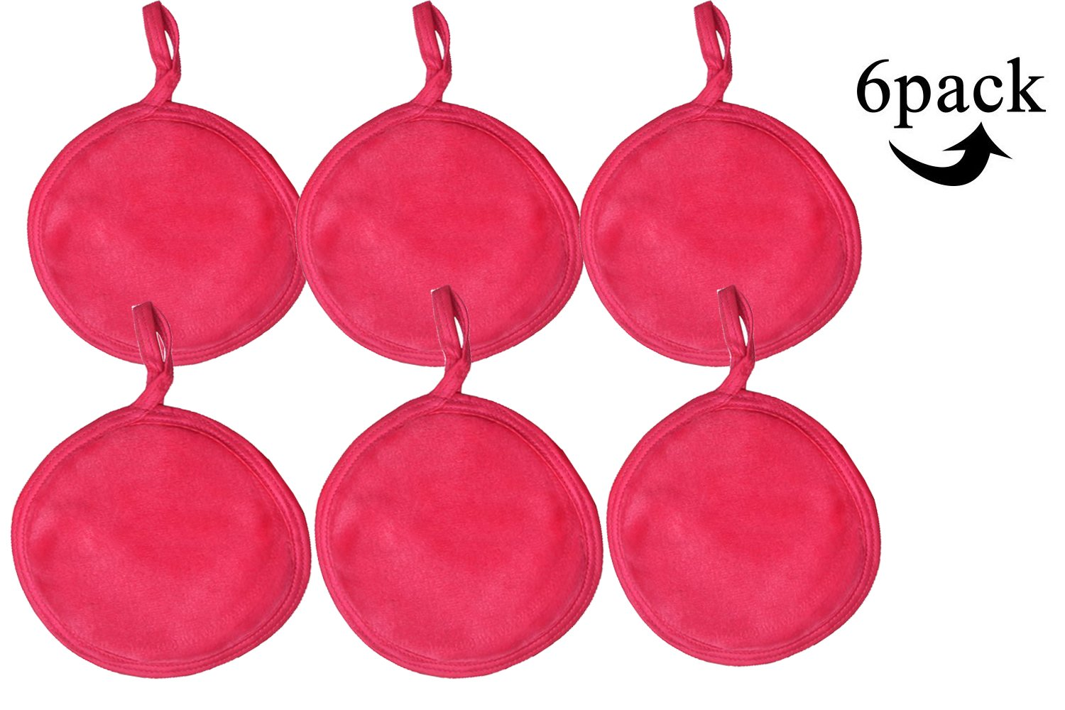 Best Rated In Makeup Blenders Sponges Helpful Customer Reviews Huging Sponge Sinland Reusable Remover Pads Soft Facial And Skin Care Wash Cloth Puff 6 Pack Dark Pink