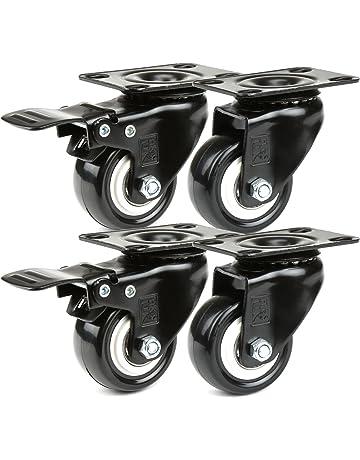 H&S® Ruedas para maleta, 4 unidades,resistentes hasta 200