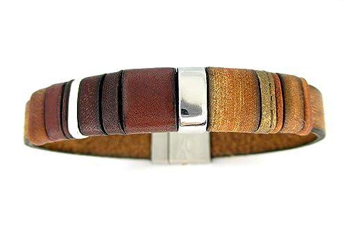 Pulsera cuero vintage marrón, pulseras cuero colores, regalos cumpleaños aniversario hombre, pulseras unisex, accesorios de cuero exclusivos para hombre, brazaletes de moda, EC 5: Amazon.es: Handmade