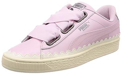 446591745ec67 Amazon.com | PUMA Basket Heart Scallop Womens Trainers | Fashion ...