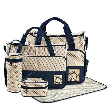 9a9c0d5c5 FREESOO Set 5 kits Bolsa de Mama Para Bebe Biberon Bolso Cambiador de  Pañales Bolsillo Maternal