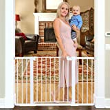 "Cumbor 51.6-Inch Baby Gate Extra Wide, Easy Walk Thru Dog Gate for The House, Auto Close Baby Gates for Stairs, Doorways, Includes 2.75"", 5.5"" and 11"" Extension Kit, Mounting Kit"