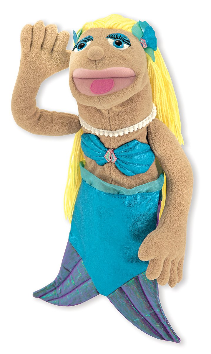 Melissa & Doug Mermaid Puppet With Detachable Wooden Rod for Animated Gestures 3896