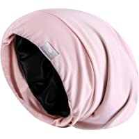 YANIBEST Extra Large Adjustable Satin Lined Slouchy Beanie Sleep Cap for Dry Hair and Curly Hair Stay on All Night 2019…