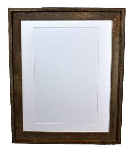 Amazon.com: Farmhouse Style Poster Frame With White 11x17 Mat 16x20 ...