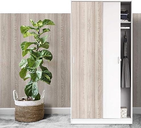 Vinilo Pegatina Muebles de Cocina, Papel Decorativo para Armario, Madera Autoadhesivo Rollo PVC Material para Pared (30 x 100 cm): Amazon.es: Hogar