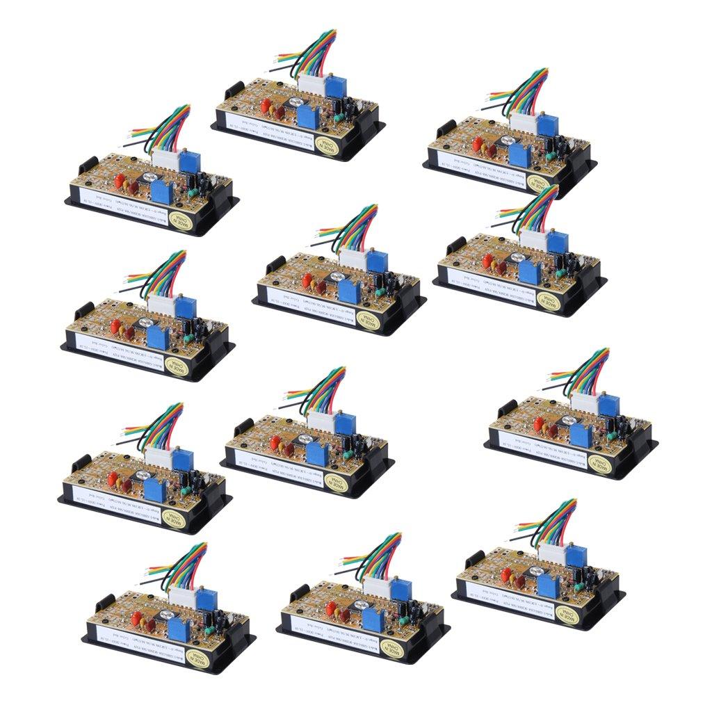 Dolity 12個入り デジタル 電圧計 電流計 1/2 200V 50A DC LEDメーター ゲージ   B07B63FHPS