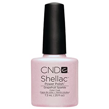 Amazon Cnd Shellac Nail Polish Grapefruit Sparkle 025 Fl Oz
