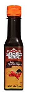 Mexico Lindo Picante Negra Hot Sauce   Light & Spicy   8,400 Scoville Level   Great with Asian Food, Seafood & Meat   5 Fl Oz Bottle (Pack of 1)