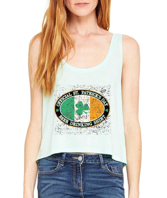 Irish Drinking Team Boxy Tank Top St. Patricks Day Flowy Shirt Minti2