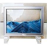 """YayaCat Deep Sea Sand Picture Desktop Sandscapes Art Glass Sculptures in Motion Mini Size Blue (7""""×5"""")"""