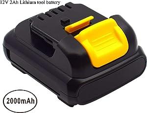 2.0Ah 12V Replacement Battery for for Dewalt DCB120