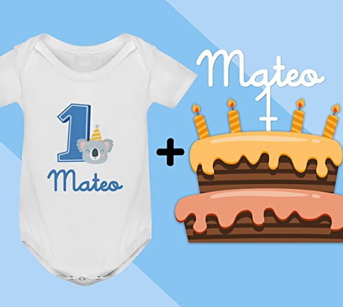 Conjunto regalo cumpleaños Cake Topper + Body o camiseta ...