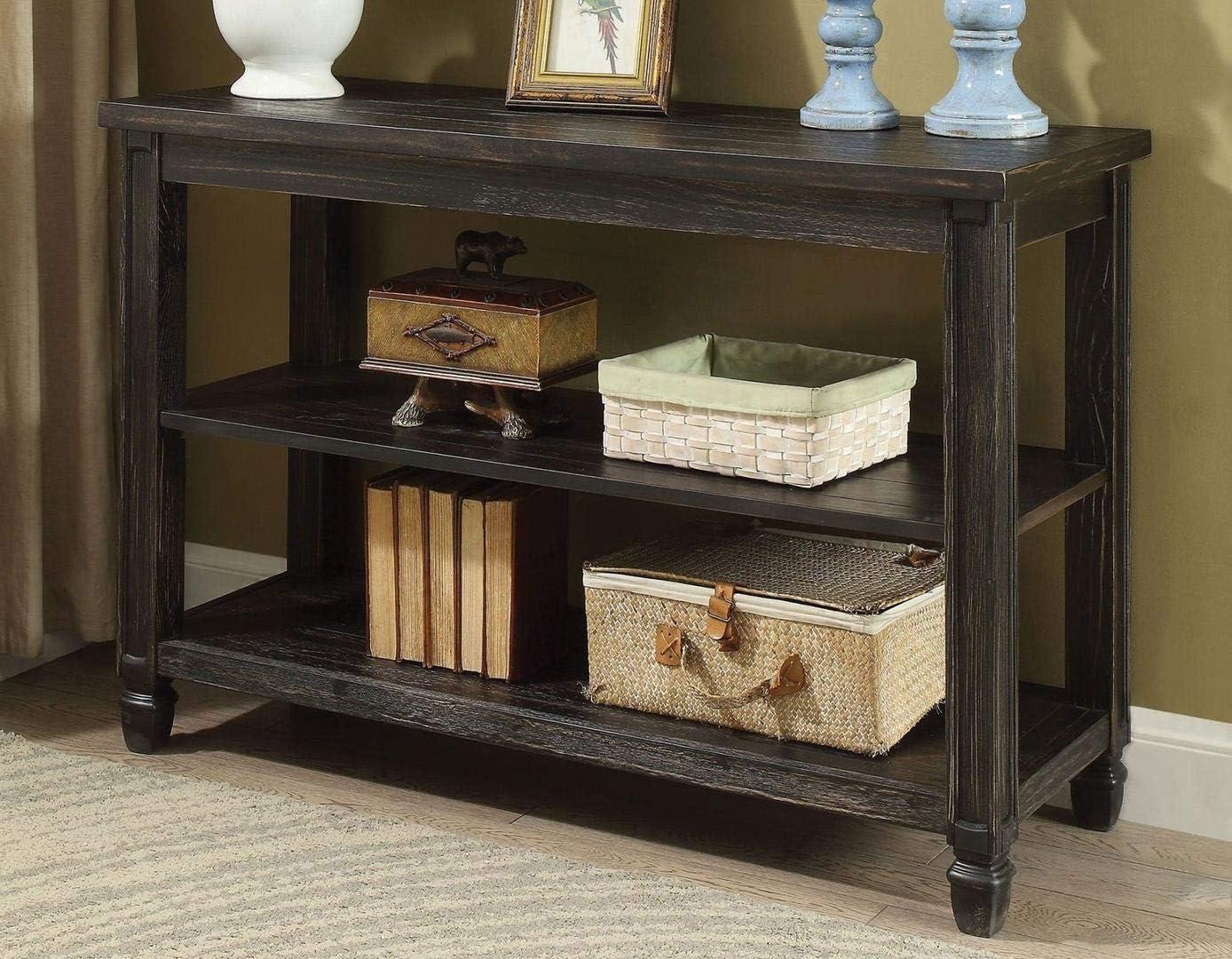 Furniture of America Sofa Table, Antique Black