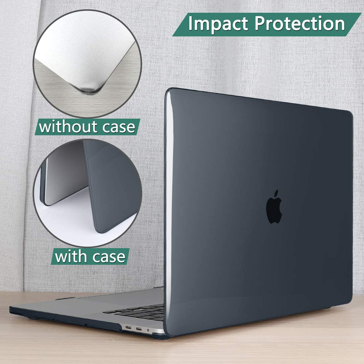 Black Dongke MacBook Pro 13 inch Case Model A2251//A2289 2020 Released,Glossy Plastic Hard Shell Case Cover for MacBook Pro 13 inch with Retina Display /& Touch Bar Fits Touch ID