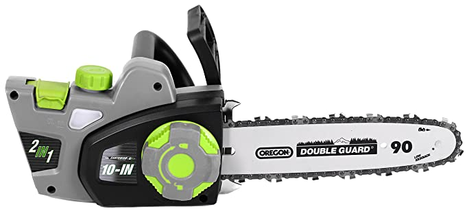 Amazon earthwise cvps43010 2 in 1 corded convertible amazon earthwise cvps43010 2 in 1 corded convertible chainsaw pole saw 10 inch oregon bar and chain 7 amp motor garden outdoor greentooth