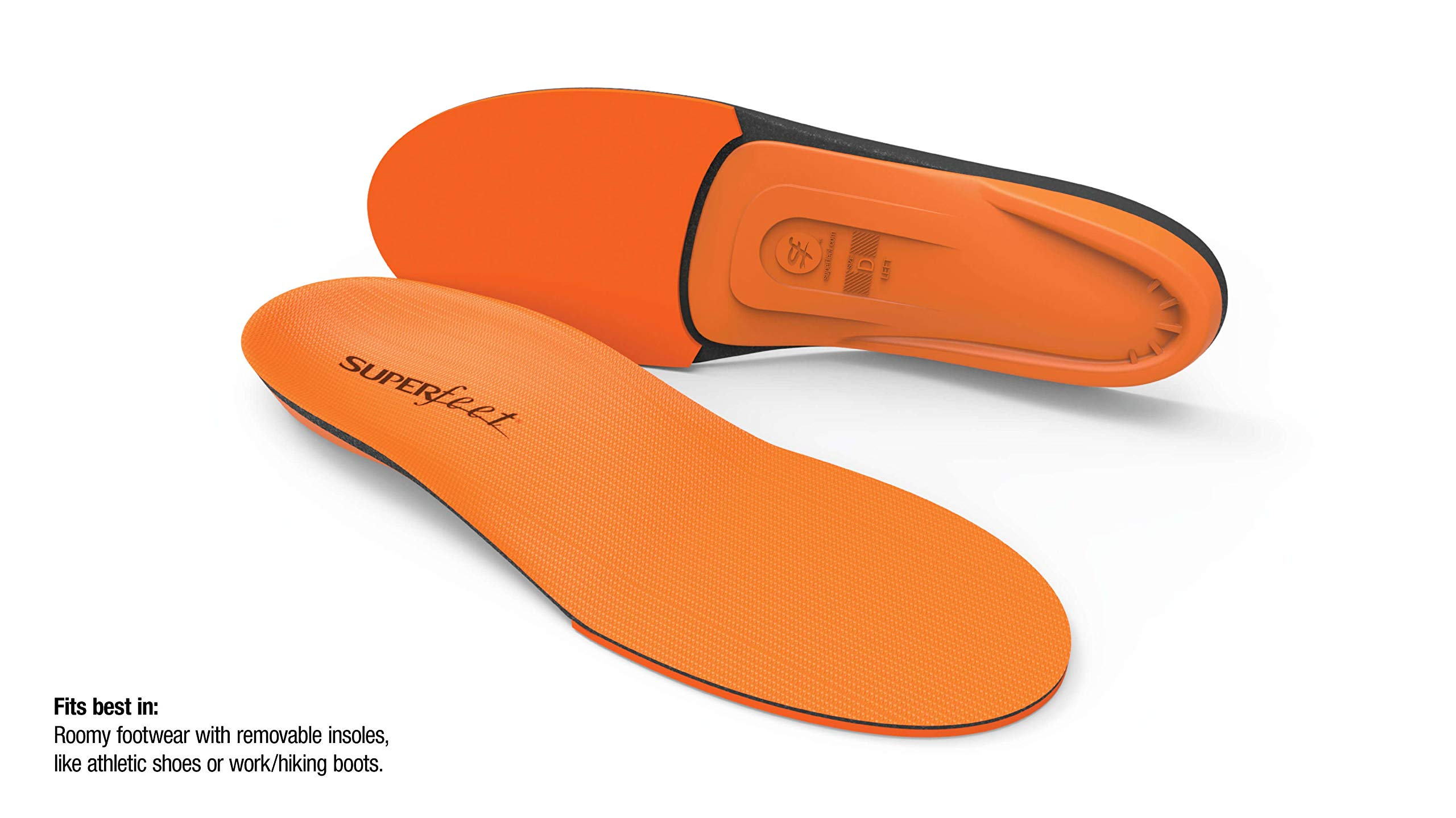 Superfeet ORANGE Insoles, High Arch Support and Forefoot Cushion Orthotic Insole for Anti-fatigue, Unisex, Orange, XXX-Large/H: 16.5+ Wmns/15.5 - 17 Mens by Superfeet (Image #2)