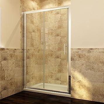 neuerffnung 1100mm nische einzel schiebetr dusche duschabtrennung glas linksrechts - Dusche Schiebetur Dreiteilig