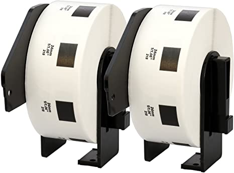 10 Rolls Brother DK-22225 38mm x 30.48m Continuous Labels Compatible for Brother P-Touch QL-500 QL-500BW QL-570 QL-580 QL-700 QL-710W QL-800 QL-810W QL-820NWB QL-1110NWB QL-1100 QL-1060N QL-1050