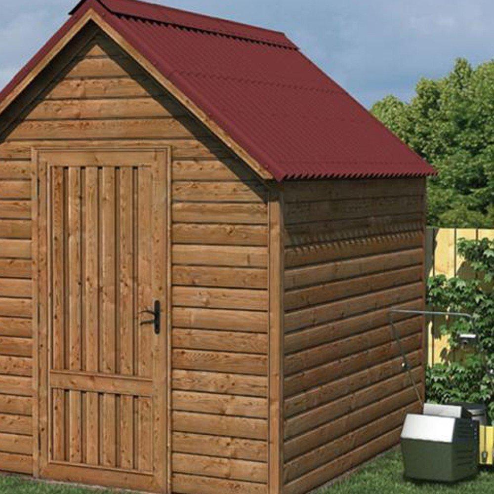 Lámina de cobertura Easyline de 100 x 76 cm, ondulada e impermeable,. Ideal como tejado de un garaje o de una caseta.: Amazon.es: Bricolaje y herramientas