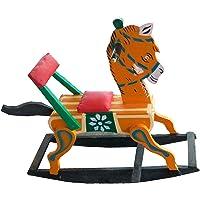 J.K.Toys&Enterprises Wooden Orange Color Horse Rocking Rider for Kids