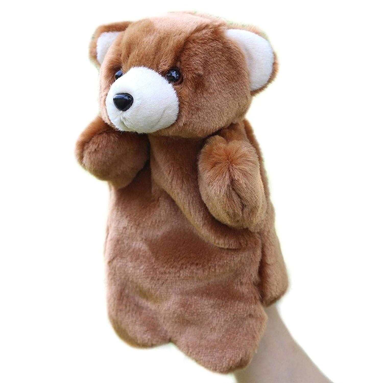 COMEYOU Marionnettes poup/ées Ours Animal Gant Histoire de poup/ée raconter des marionnettes marionnettes en Peluche /à la Main Ours Brun