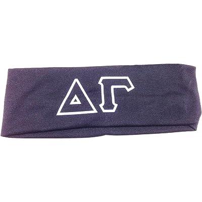 delta gamma sorority greek letters headband