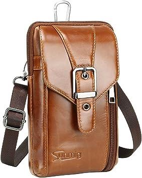 Bolsa Bandolera de cuero auténtico para hombre genuine leather crossbody men