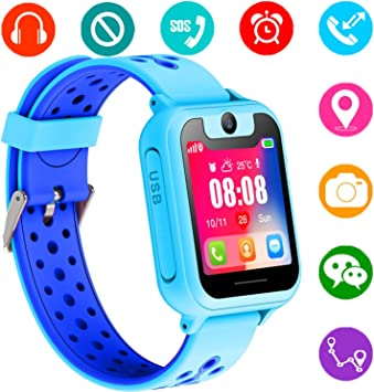 Reloj Inteligente para Niños, GPS/LBS para Niños Cumpleaños ...