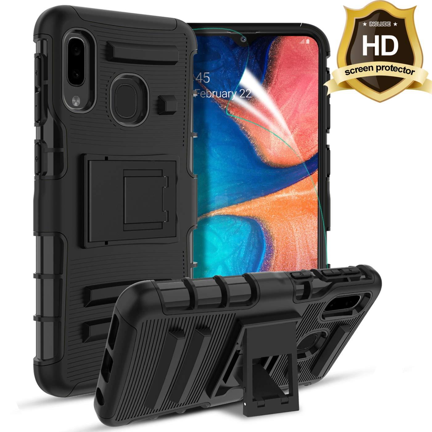 Funda + Vidrio Para Samsung Galaxy A10 Con Pie Tgood [7tx57fvp]