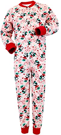 3f967f89808b Image Unavailable. Image not available for. Colour  Girls Minnie Mouse  Onesie Pjs ...