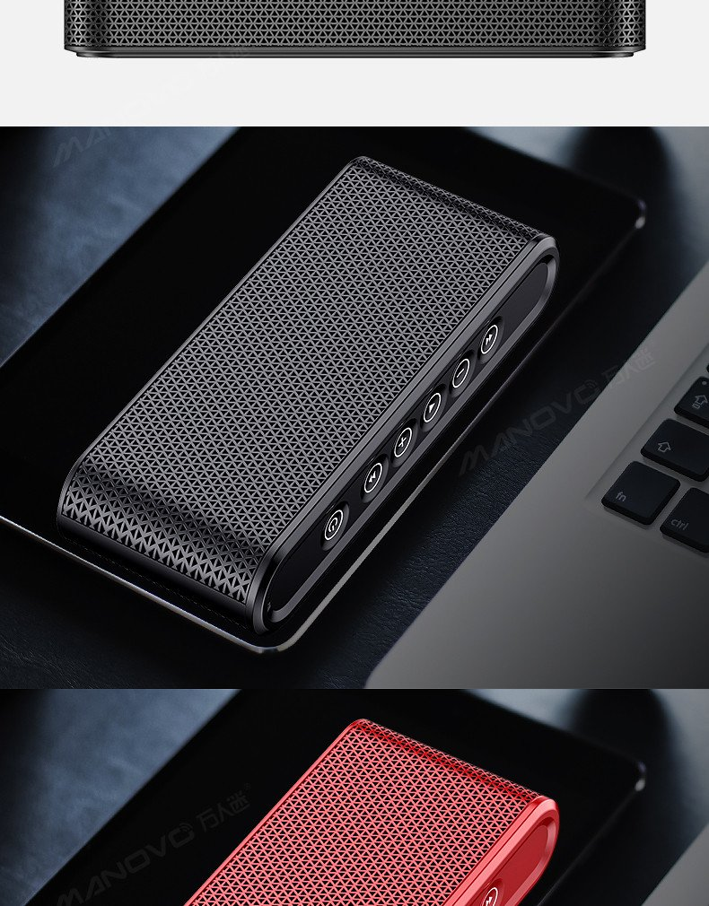 Bluetooth Speakers, 6W Touch Metal Speakers, Mini Portable Bluetooth 4.2 Wireless with Super Bass, Treble Stereo Subwoofer, Support TF Card, USB Disk, 3.5mm AUX Input,Mobile Computer Accessories by WORENMI (Image #8)