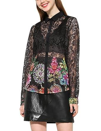 Desigual Cam Chipi, Chemise Femme  Amazon.fr  Vêtements et accessoires 8426231a99d4