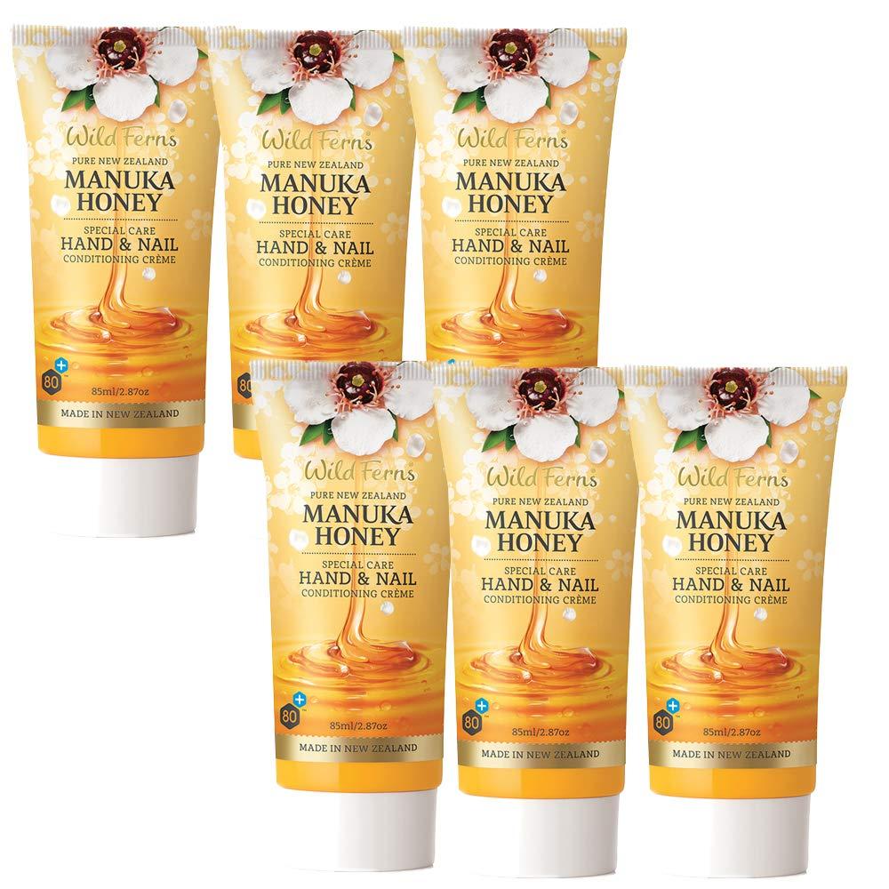 Wild Ferns New Zealand Manuka Honey Hand and Nail Cream (Six tubes)