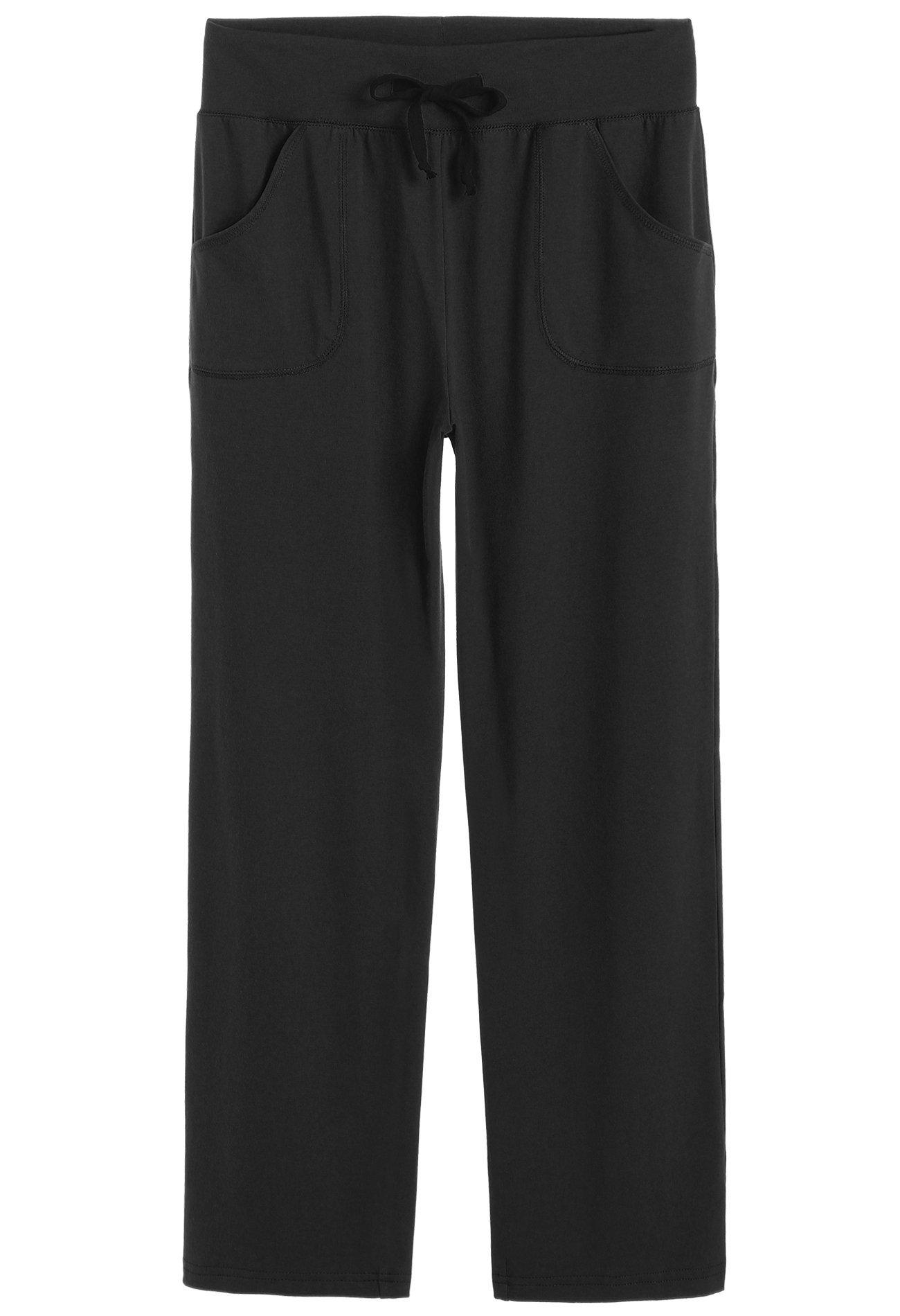 Latuza Women's Cotton Lounge Pants, Black, X-Large by Latuza