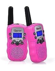 Upgrow Walkie Talkies 8 Channel 2 Way Radio Kids Toys Wireless 0.5W PMR446 Long Distance Range Walkie Talkie for Field Survival Biking and Hiking (T388-Pink)