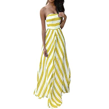 Women Dress Summer New Summer Long Dress Chiffon Beach Vestidos Femininos Boho Stripes Evening Party Dress