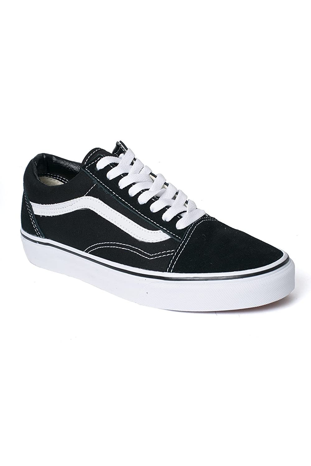 Vans Unisex Old Skool Classic Skate Shoes B076YPVFZZ 12 M US Women / 10.5 M US Men|Black (Black/White)