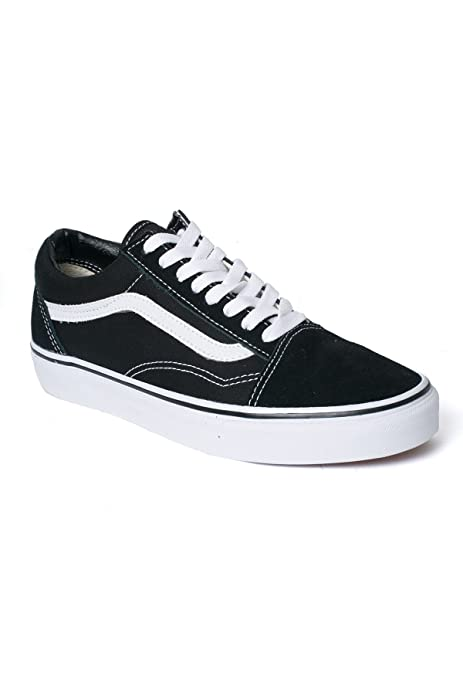Vans Old Skool Sneaker Damen Herren Kinder Unisex schwarz mit weißen Streifen