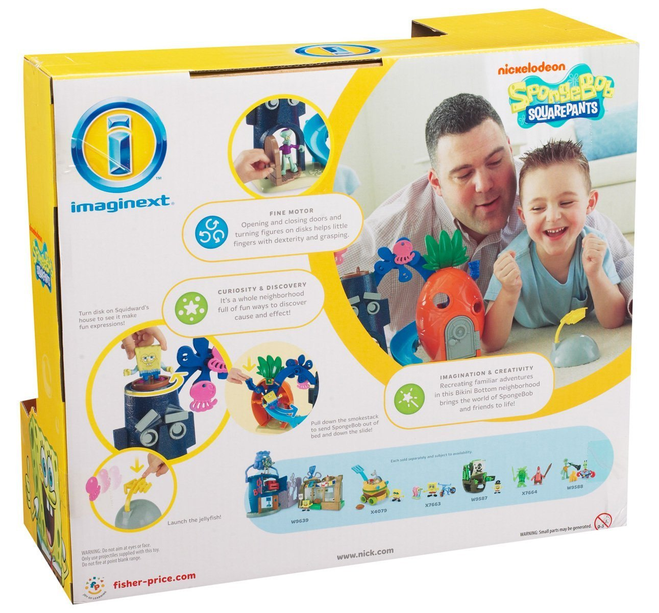 amazon com fisher price imaginext nickelodeon spongebob