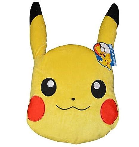 Amazon.com: Pokémon Pikachu Big Character Head Almohada ...