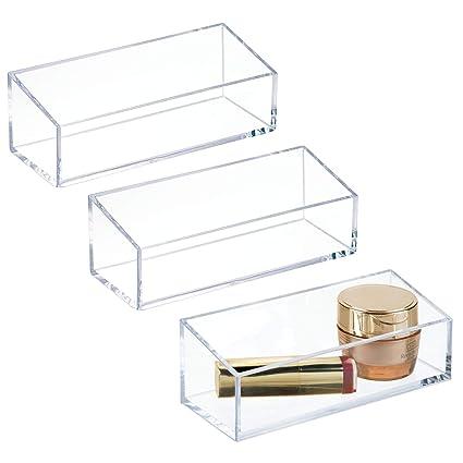 Amazon Com Mdesign Bathroom Organizer Tray For Blush Lipstick Lip