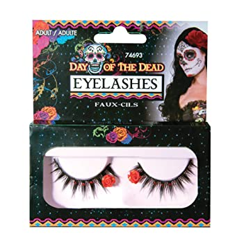 Bristol Novelty 74693 Day of The Dead Eyelashes, One Size