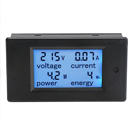 DROK® AC 80-260 V Comprobador Home-Voltímetro In Power Energy Monitor Meter Digital pantalla LCD electricidad Detector de tensión de corriente: Amazon.es: ...
