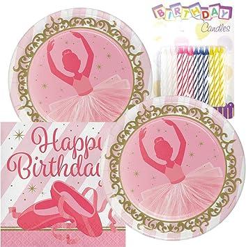 Amazon.com: Twinkle Toes Feliz cumpleaños Tema Platos y ...