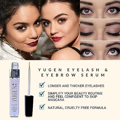 e5b68b7f0e8 Amazon.com: Yugen Eyelash Growth Serum for longer, thicker eyelashes and  fuller eyebrows! Eyelash enhancer to repair damage from eyelash curlers or  over ...