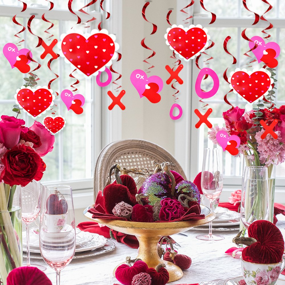 30pcs Hanging Heart Swirl For Wedding Hanging Decoration Sweet