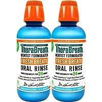 TheraBreath Fresh Breath, 24 Hour Dentist Formulated Oral Rinse, Icy Mint, 16 Fl Oz (Pack of 2)