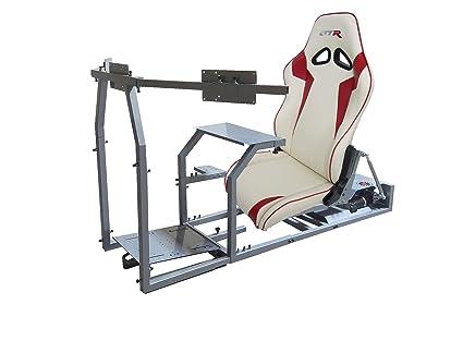 Amazon com: GTR Simulator - GTM Motion Cockpit w/Real Racing Seat