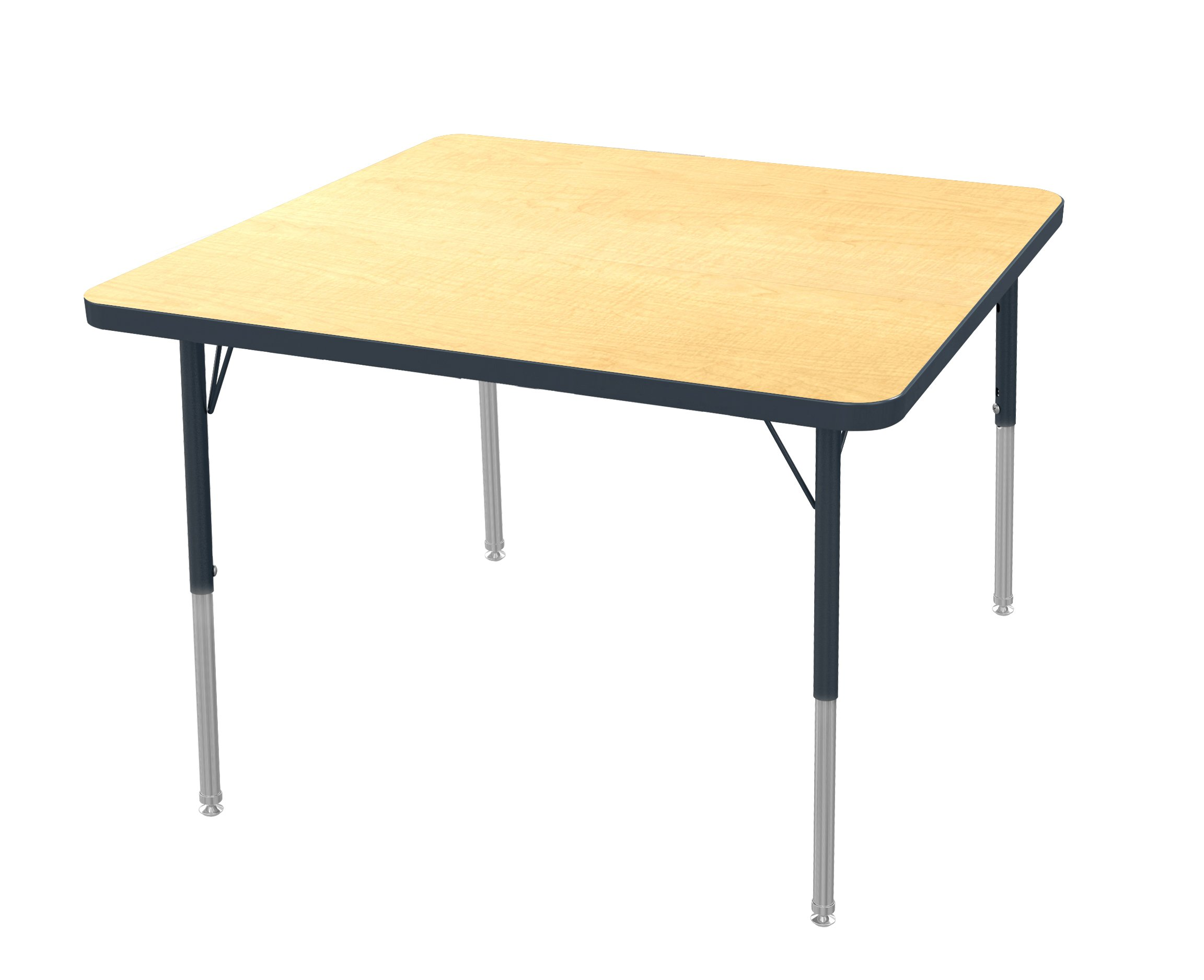 Marco Group Square Adjustable Activity Table, 48'' Width x 48'' Length, Maple, Standard Legs